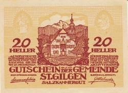 Image #1 of 20 Heller 1920 - Sankt Gilgen