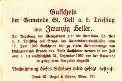 Image #2 of 20 Heller 1920 - Sankt Veit an der Triesting