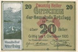 Imaginea #1 a 20 Heller 1920 - Brixlegg