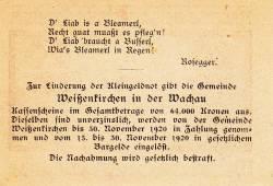 Image #2 of 20 Heller 1920 - Weißenkirchen in der Wachau