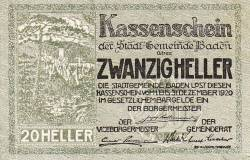 20 Heller 1920 - Baden