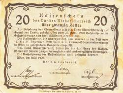 Image #1 of 20 Heller 1920 -  Lower Austria - Niederösterreich