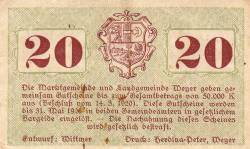 20 Heller 1920 - Weyer Markt și Weyer-Land
