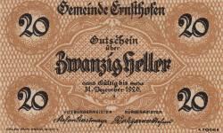 Imaginea #1 a 20 Heller 1920 - Ernsthofen