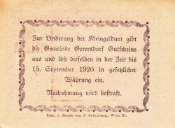 Imaginea #2 a 20 Heller ND - Gerersdorf (A II-a emisiune - 2. Auflage)