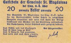 20 Heller ND - Sankt Magdalena