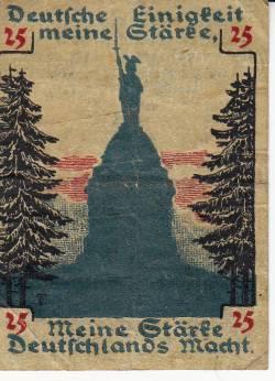 Imaginea #1 a 25 Pfennig 1920 - Detmold