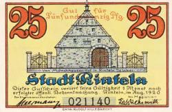 Image #1 of 25 Pfennig 1920 - Rinteln