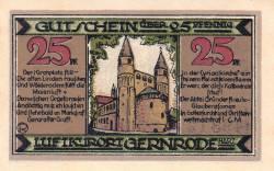 Image #1 of 25 Pfennig 1921 - Gernrode/Harz