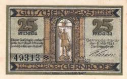 Image #2 of 25 Pfennig 1921 - Gernrode/Harz