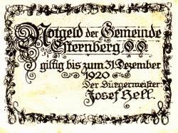 Imaginea #2 a 30 Heller 1920 - Esternberg