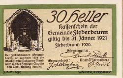 Imaginea #1 a 30 Heller 1920 - Fieberbrunn