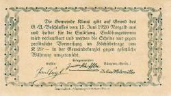 Imaginea #2 a 30 Heller 1920 - Klaus