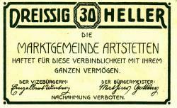 30 Heller 1920 - Artstetten