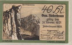 Imaginea #1 a 40 Heller 1920 - Fieberbrunn