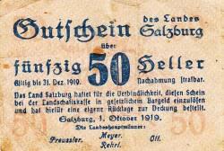 Image #1 of 50 Heller 1919 - Land Salzburg