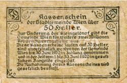 Imaginea #2 a 50 Heller 1919 - Viena