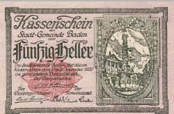 Imaginea #1 a 50 Heller 1920 - Baden