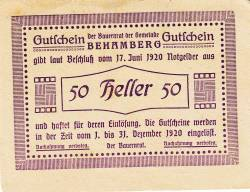 Image #2 of 50 Heller 1920 - Behamberg