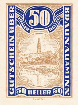50 Heller 1920 - Braunau am Inn