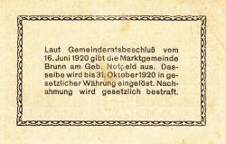 50 Heller 1920 -  Brunn am Gebirge
