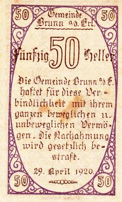 Image #2 of 50 Heller 1920 -  Brunn am Gebirge