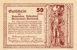 Image #2 of 50 Heller 1920 - Bubendorf, Weikersdorf, Wolfsbach