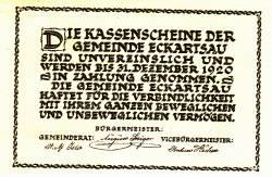 Imaginea #2 a 50 Heller 1920 - Eckartsau
