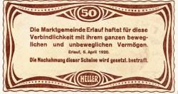 Imaginea #2 a 50 Heller 1920 - Erlauf