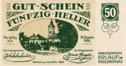 Imaginea #1 a 50 Heller 1920 - Erlauf