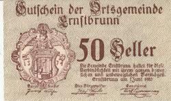 Imaginea #1 a 50 Heller 1920 - Ernstbrunn