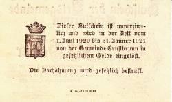 Imaginea #2 a 50 Heller 1920 - Ernstbrunn