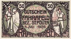Imaginea #1 a 50 Heller 1920 - Fahrafeld (district în Sankt Pölten)