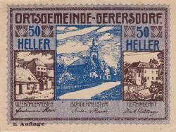 Imaginea #1 a 50 Heller ND - Gerersdorf (A II-a emisiune - 2. Auflage)