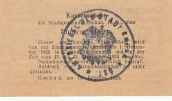 Imaginea #2 a 50 Heller 1920 - Gmünd (Niederösterreich - Austria Inferioară)