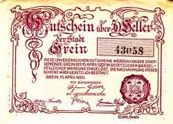 Imaginea #2 a 50 Heller 1920 - Grein