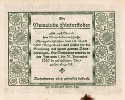Imaginea #2 a 50 Heller 1920 - Hinterstoder