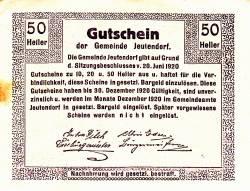 Image #2 of 50 Heller 1920 - Jeutendorf