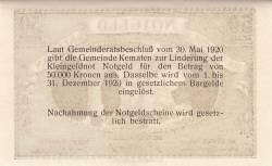 Imaginea #2 a 50 Heller 1920 - Kematen