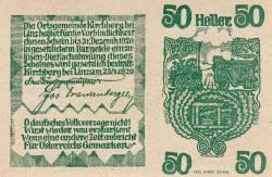 Imaginea #2 a 50 Heller 1920 - Kirchberg bei Linz
