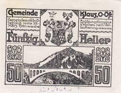 Imaginea #1 a 50 Heller 1920 - Klaus (Oberösterreich - Austria Superioară)