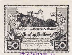 Imaginea #2 a 50 Heller 1920 - Klaus (Oberösterreich - Austria Superioară)