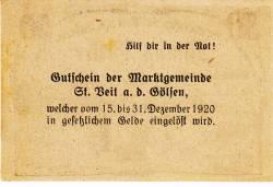 Image #2 of 50 Heller 1920 - Sankt Veit an der Gölsen
