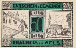 50 Heller 1920 - Thalheim bei Wels