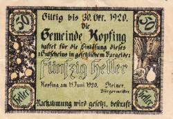 Image #1 of 50 Heller 1920 - Kopfing