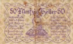 Imaginea #1 a 50 Heller 1920 - Dorf an der Pram