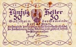 Imaginea #2 a 50 Heller 1920 - Dorf an der Pram