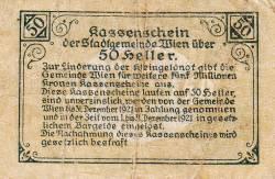 Imaginea #2 a 50 Heller 1920 - Viena