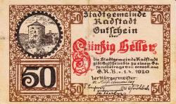 Image #1 of 50 Heller 1920 - Radstadt