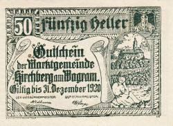 Imaginea #1 a 50 Heller ND - Kirchberg am Wagram